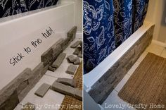 Easily update your boring built-in bathtub with Faux Stone Window Air Conditioner Installation, Bathtub Repair, Online Home Design, Built In Bathtub, Stone Bathtub, Airstone, Home Design Magazines, Small Cottages, Garden Architecture