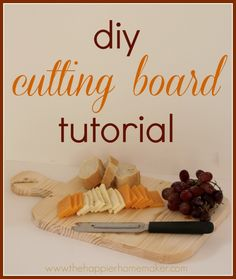 DIY Cutting Board Tutorial