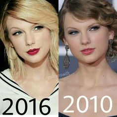 Taylor Swift. Then and now