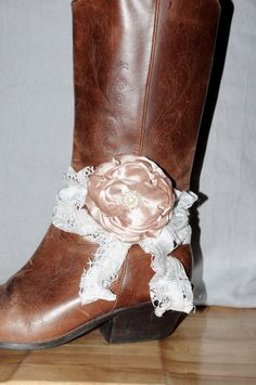 A personal favorite from my Etsy shop https://www.etsy.com/listing/265731171/shabby-chic-lace-boot-band-boot
