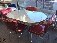 COOL Retro Dinettes | 1950's Style | Canadian Made Chrome Sets Retro Table And Chairs, Retro Kitchen Tables, Retro Dining Rooms, Retro Dining Table, Rustic Kitchen, Country Kitchen, Vintage Kitchen, Dining Tables, Retro Furniture