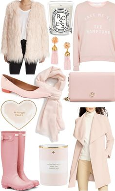 Faux fur coat / Candle / Sweatshirt / Earrings / Flats / Scarf / Bag / Heart dish / Hunters / Candle / Coat This year's Pantone Colors of the Year, Rose Quartz and Serenity, have all the girliest of girls excited, myself included. Rose quartz (aka pale pink) has been a blogger favorite for some time, but now you can expect to see it pretty much ...