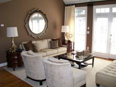Brown Walls With Cream Trim Design Ideas, Pictures, Remodel and Decor