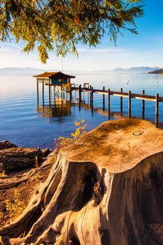 Pier in Lake Tahoe Sierra, California United States