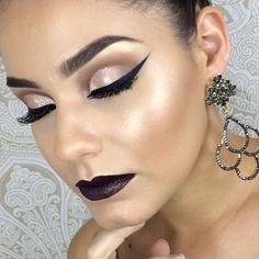 O glamour do delineado✨✨✨✨✨ #mua #maquiagem_insta #maquillage #maquillaje #glam #glow #universodamaquiagem_oficial #universomakeup #loucaspormaquiagem #loucasporbatom #pausaparafeminices #hudabeauty #toofaced #stunning #amazing #eyeliner #liner #delineado #eyemakeup #anastasiabeverlyhills #queroessamaquiagem #inglot #makeupaddict #makeupdolls #makeupmurah #makeupaddict #makeupslaves #makeuplover #vegas_nay #maquiagemx