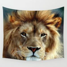 LION - Aslan Wall Tapestry by Valerie Anne Kelly