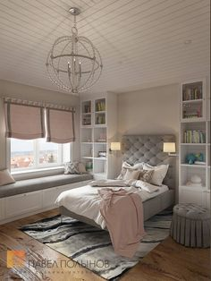 Фото детская комната из проекта «Интерьер загородного дома в стиле американской неоклассики, п. Токсово, 215 кв.м.»