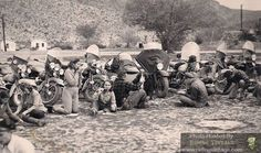 1940s ride and picnic... looks like a fun crew of good people