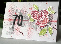 Rose card with a mixed media vibe stamps by Altenew