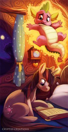 Twilight Sparkles and Spike