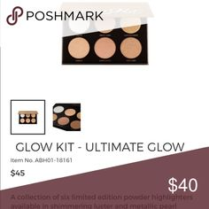 Anastasia Beverly Hills Ultimate Glow Kit 100% authentic. Colors never used, only swatched. Absolutely nothing wrong with it. Was given to me as a gift and I use more subtle highlights. NO LOW BALL OFFERS. Anastasia Beverly Hills Makeup