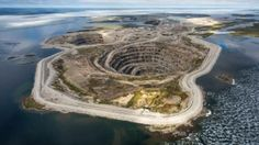Rio Tinto's Diavik diamond mine is located about 300 kilometres northeast of Yellowknife, inside Lac de Gras.