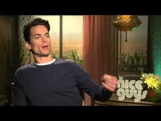 The Nice Guys: Matt Bomer Official Movie Interview - YouTube