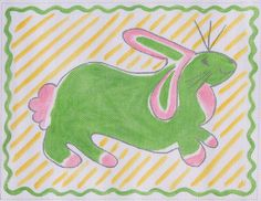Jilly Walsh Green Bunny, from Kate Dickerson Needlepoint Collections