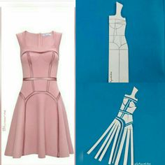 60 Ideas sewing illustration fashion design dress patterns for 2019 Fashion Sewing, Diy Fashion, Fashion Dresses, Moda Fashion, Dress Sewing Patterns, Clothing Patterns, Pattern Sewing, Diy Clothing, Sewing Clothes