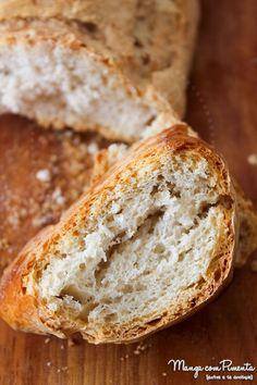 Essa Receita de Pão Italiano - Pão Rústico é maravilhoso e acompanha perfeitamente uma bela sopa. Clique aqui para ver a receita no Manga com Pimenta.