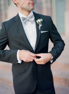 Dapper groom: http://www.stylemepretty.com/little-black-book-blog/2015/03/06/modern-timeless-st-louis-wedding/ | Photography: Lisa Hessel - http://lisahesselphotography.com/