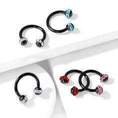 Wholesale Stainless Steel Horseshoe Bar Nose Eyebrow Nipple Septum Ear Rings Set