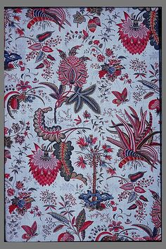 1787 French, Oberkampf factory woodblock printed cotton, Met Accession Number: 37.170