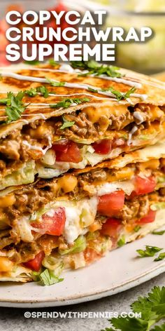 Our recipe for a copycat Crunchwrap Supreme is super tasty and fresh! Who needs takeout? Learn how to make it right at home with our easy recipe. #spendwithpennies #crunchwrapsupreme #recipe #lunch  #copycattacobell #homemade #best #spicy #diy #easy Wrap Recipes, New Recipes, Cooking Recipes, Favorite Recipes, Healthy Recipes, Milk Recipes, Recipies, Beef Dishes, Food Dishes