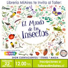 Taller  El mundo de los insectos - MilAires, Boutique del Libro.