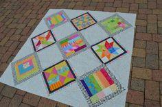 Summer Blockbuster Quilt 2014: sampler quilt idea for setting different blocks