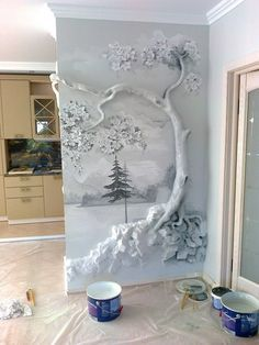 5 Stupefying Unique Ideas: It Is What It Is Wall Decor wall decor for dining roo Dining Room Decor wall decor for dining room area Plaster Art, Plaster Walls, Wood Walls, Wall Sculptures, Tree Sculpture, Wall Design, Diy Home Decor, Art Projects, Diy And Crafts