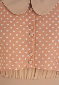 Peach & polkas. A perfect combo. #style