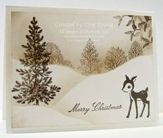 Winter Scene in Sepia by genesis - Cards and Paper Crafts at Splitcoaststampers