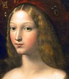 Giulio Romano (1490-1546) possibly with the intervention of Raffaello Sanzio (b.1483- d.1520), Portrait DETAIL of Doña Isabel de Requesens y Enríquez de Cardona-Anglesola, Wife of the Viceroy of Naples - painted 1518 (Louvre Museum, Paris)