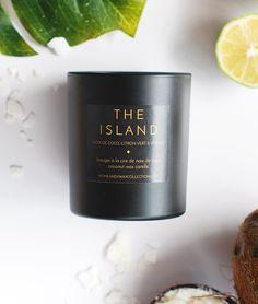 "BOUGIE PARFUMÉE ""THE ISLAND""  À LA CIRE DE NOIX DE COCO | home & away… Candle Wax, Candles, Essential Oils, Coconut, Island, Natural, Key Lime, Vanilla, Surfboard Wax"