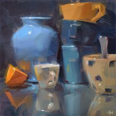 Carol Marine's Painting a Day: Standing Room Only