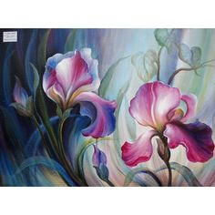 House of Hampton Cattleya Orchid Original Painting on Canvas & Reviews | Wayfair