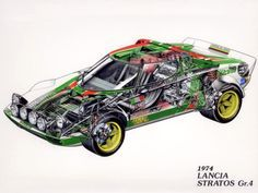 "rallyknights: ""Rally Machines Cutaway Collection "" This is amazing! Cutaway, Rally Car, Car Car, Sport Cars, Race Cars, Carros Suv, Maserati, Ferrari, Vw Gol"