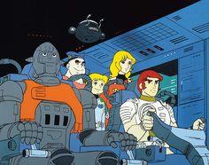 Capitaine Flam Days Anime, Space Opera, Mundo Geek, Classic Cartoons, Childhood Memories, Science Fiction, Illustration, Manga Anime, Sci Fi