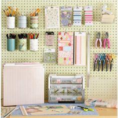 Craft Table wall organization