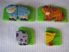 Leap Frog FRIDGE PHONICS Farm Barn Magnetic Animal Replacement Parts Pieces LOT #LeapFrog