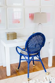 Photography: Nicole Baas - nicolebaasphotography.com/  Read More: http://www.stylemepretty.com/living/2015/05/29/a-chic-office-redo/