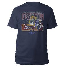 Led Zeppelin The Song Remains The Same Navy T-Shirt