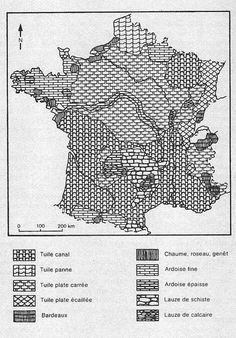 Roofing materials in different parts of France