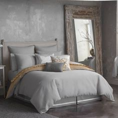 product image for Seville Ottoman Rib Reversible Comforter Set in Grey