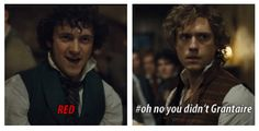 If looks could kill Enjorlas would have killed  Grantaire for egging Marius on about Cosette