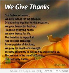 Thanksgiving prayers - Google Search
