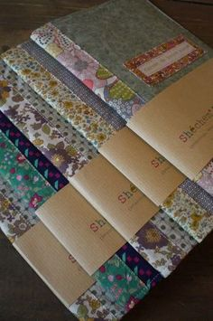 beautiful fabric-covered notebook #notebook #DIY