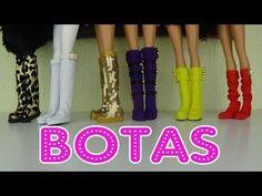 Como fazer botas para bonecas - YouTube
