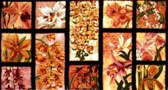 Oriental Traditions Orchid Crimson 24x44 Large Cotton Fabric Panel #QuiltingTreasures