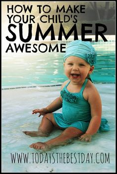 How To Make Your Child's Summer Awesome - List of things to do with Free Printable Bucket list and Summer Schedule!