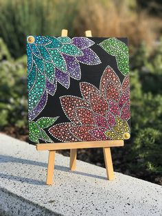 Enticing Lotus Dotted Mandala Dot Art Painting, Mandala Painting, Stone Painting, Mandala Canvas, Mandala Art, Cuadros Diy, Learn To Paint, Pictures To Paint, Art Plastique