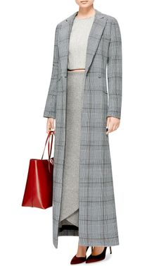 Long Prince Of Wales Check Cotton Coat by Rosie Assoulin - Moda Operandi