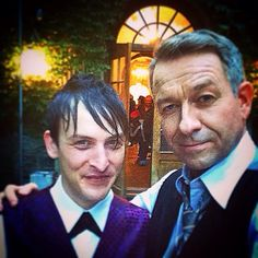 Gotham's Alfred (played by Sean Pertwee) and Penguin AKA Oswald Cobblepot (played by Robin Lord Taylor).